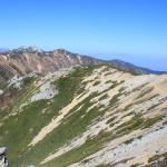 燕岳~大天井岳、登山報告 2日目その5(大天井岳~燕山荘編)
