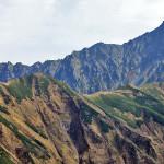 双六岳登山道から見る北鎌尾根